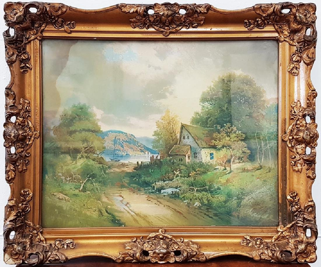 Antique Watercolor Signed Unknown Artist