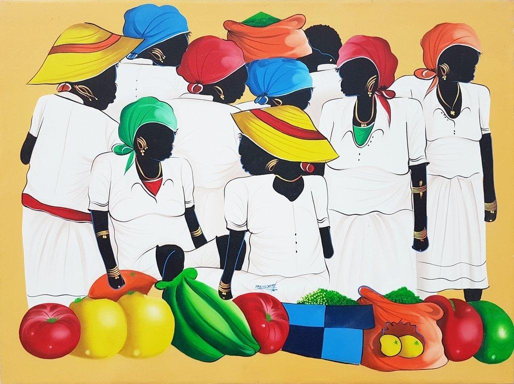 HAITIAN ART ACRYLIC ON CANVAS PAINTING