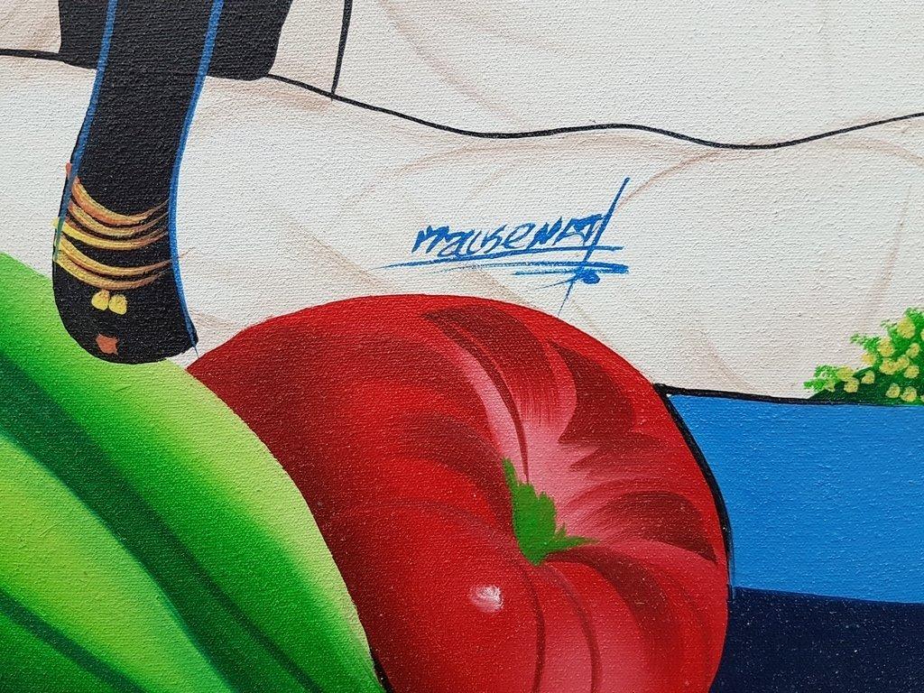HAITIAN ART ACRYLIC ON CANVAS PAINTING - 2