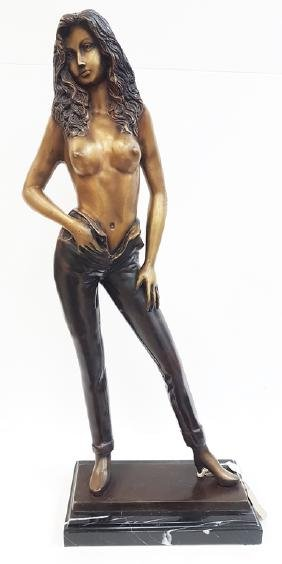 BRUNO BRUNI BRONZE WOMAN STATUE