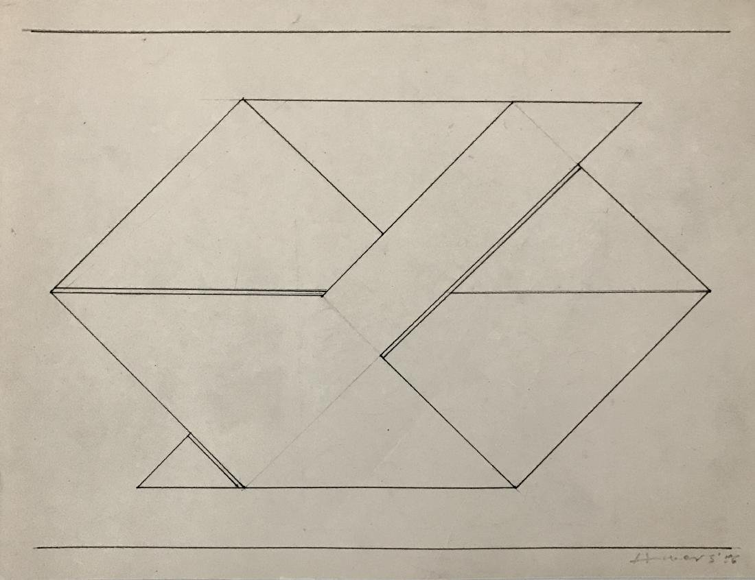 JOSEF ALBERS pencil and ink on paper