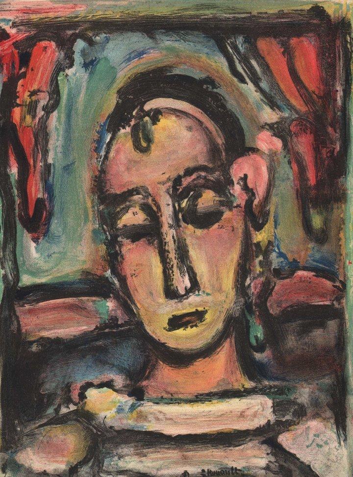 Georges Rouault - Tete de Jeune Fille