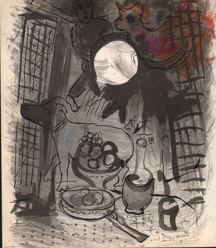 Marc Chagall - Brown Still Life