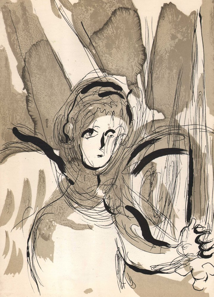 Marc Chagall - Angel with Sword