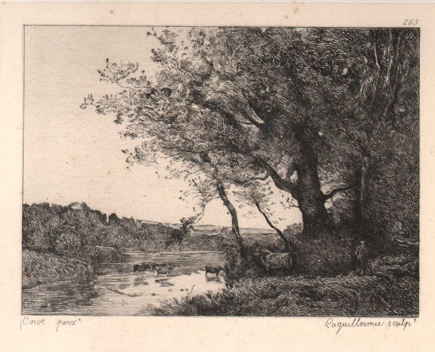 Etching after J.B. Corot