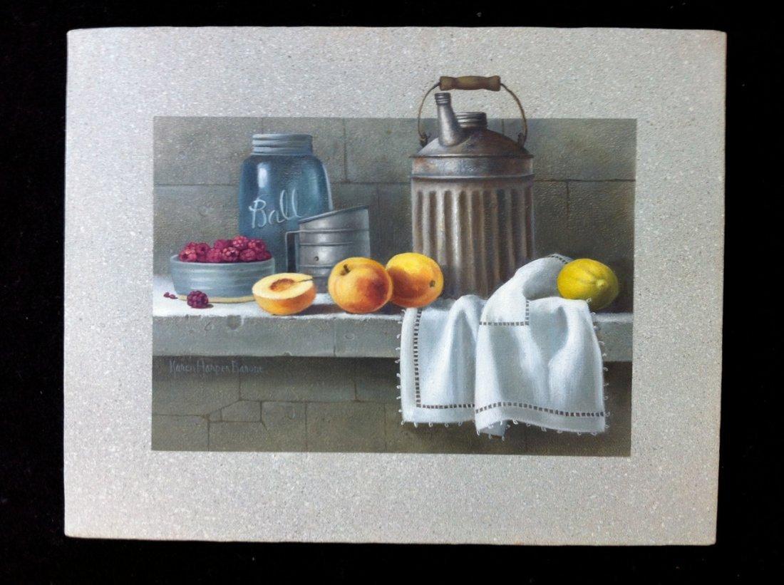 Karen Harper Barone - Still Life with Peaches