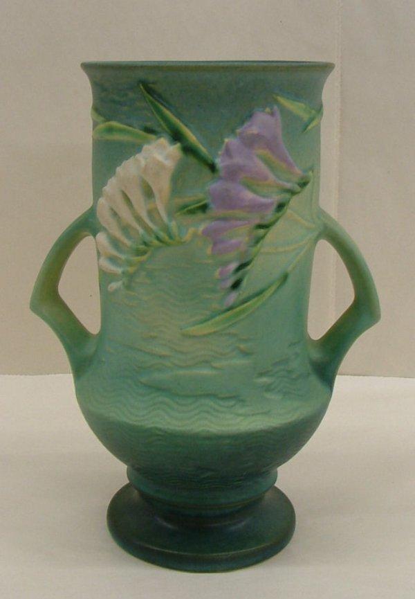 5: Roseville Freesia vase, 123-9