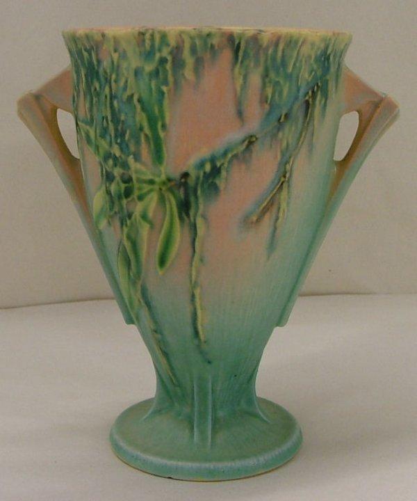 12: Roseville Moss vase, 775-6