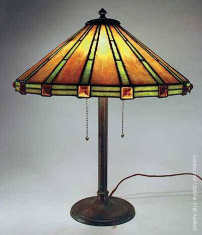1: Duffner & Kimberly Leaded Glass Lamp