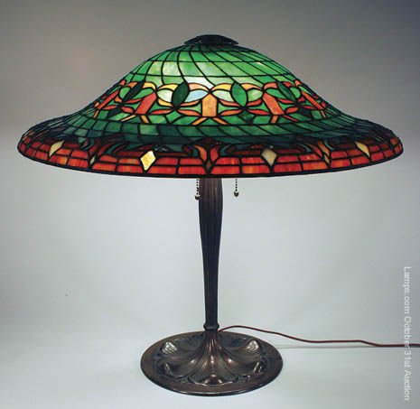 2: Suess Swirling Leaded Glass Lamp