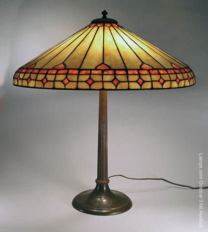 3: Duffner & Kimberly Massive Leaded Glass Lamp