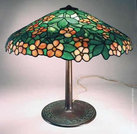 4: Suess Apple Blossom Leaded Glass Lamp