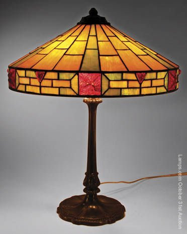 6: Wilkinson Jewelled Leaded Glass Lamp