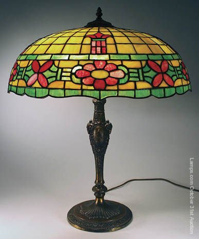 8: Wilkinson Leaded Glass Lamp