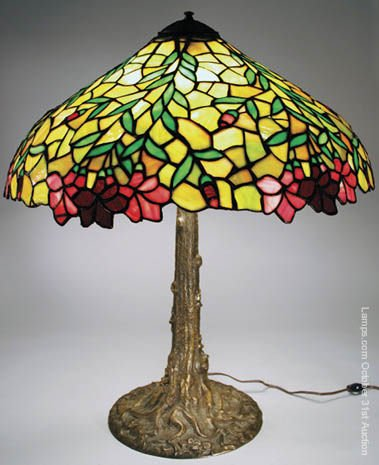 14: Chicago Mosaic Floral Leaded Glass Lamp