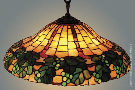 16: Duffner & Kimberly Leaded Glass Lamp Shade