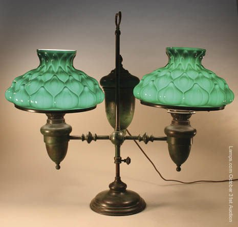 24: Tiffany Studios Double Student Lamp