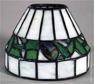 143: Bigelow & Kennard Leaded Glass Lamp Shade
