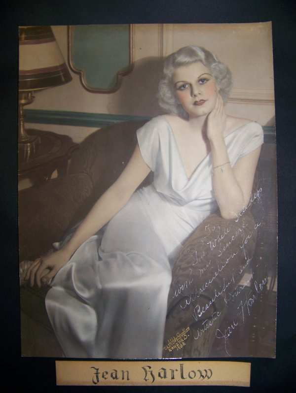 1: Autographed Jean Harlow photograph