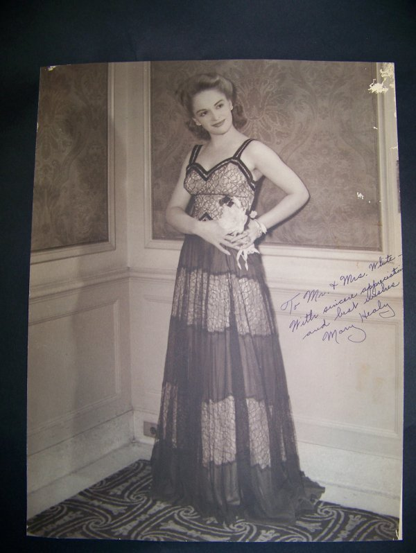 2: Autographed Mary Healy photograph
