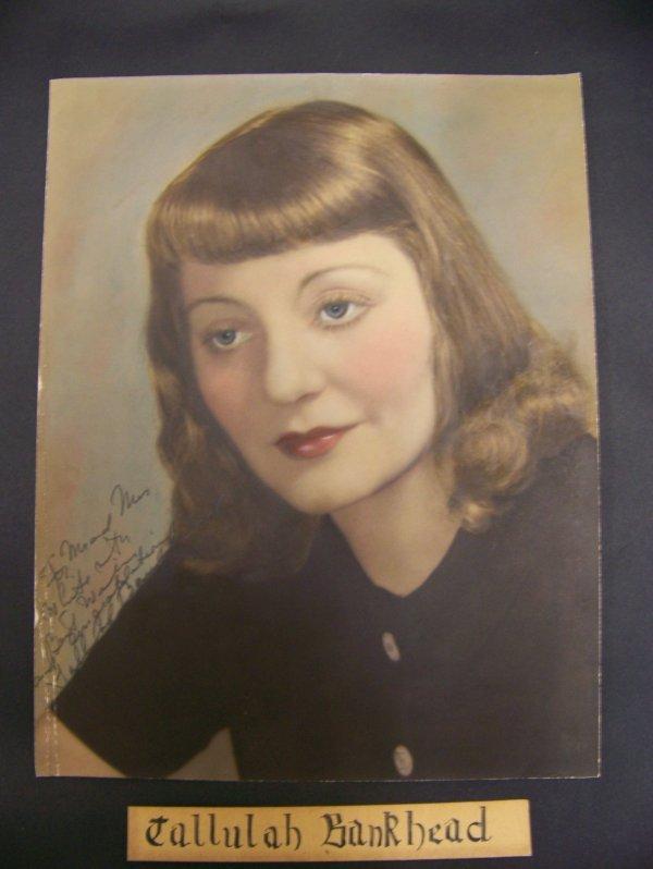 6: Photo autographed Tallulah Bankhead