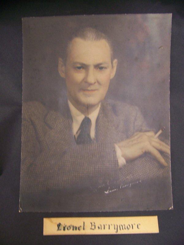 8: autographed Lionel Barrymore photograph