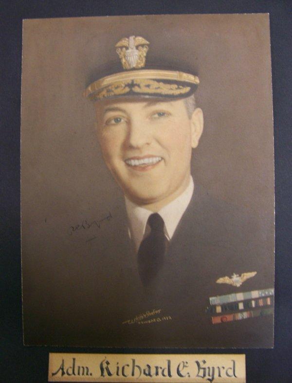 11: autographed photograph of Adm. Richard E. Byrd