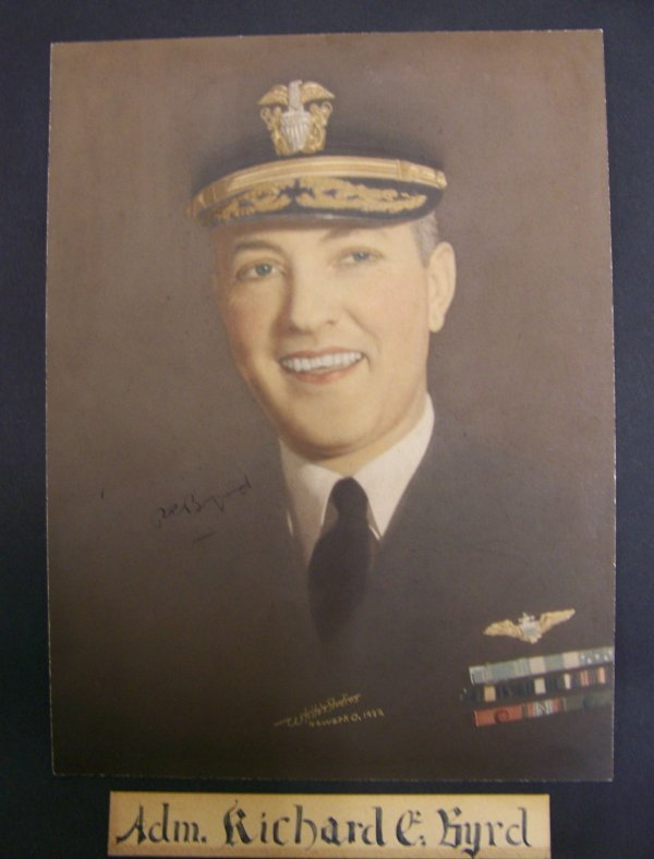 11: autographed photograph of Adm. Richard E. Byrd