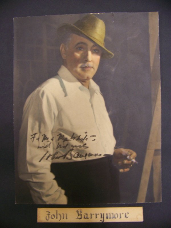 12: photograph of John Barrymore