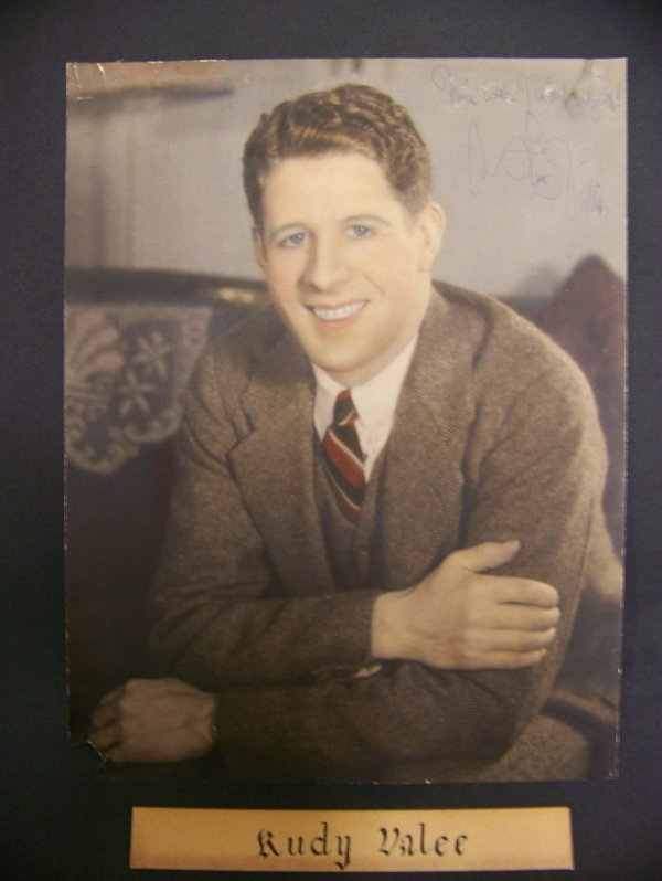 13: photograph of Rudy Valee with an autograph
