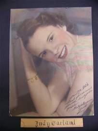 14: autographed Judy Garland photograph