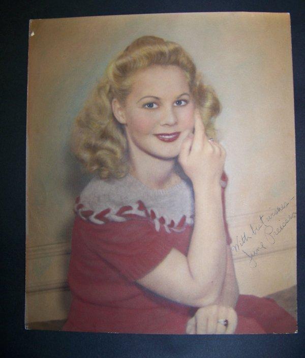 17: photograph of June Preisser with autograph