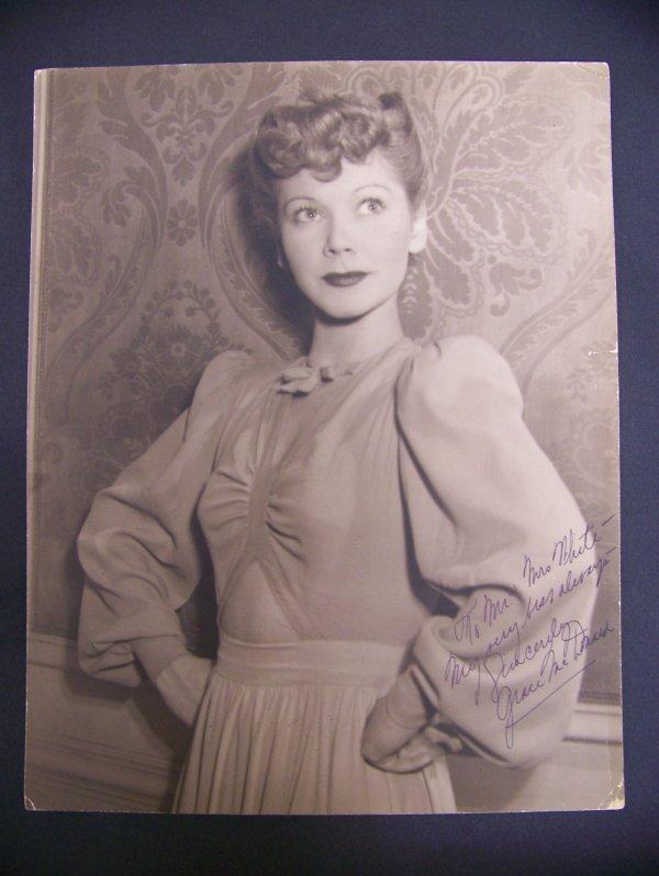 19: photograph of Grace McDonald with autograph