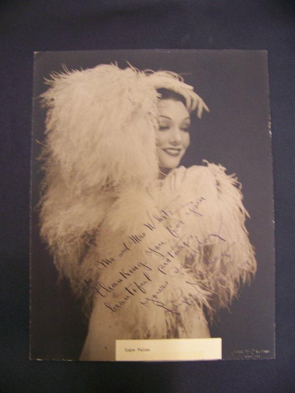 21: photograph of Lupe Velez w/personalized autograph