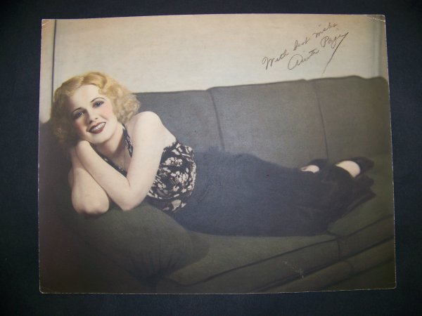 22: photograph of Anita Page with autograph