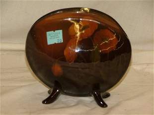 """Rookwood 5"""" shell form vase with floral d"""