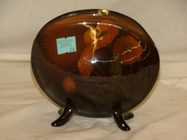 """20: Rookwood 5"""" shell form vase with floral d"""
