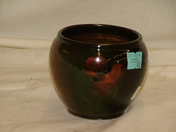 """22: 3.5"""" art pottery vase with minor chip on"""