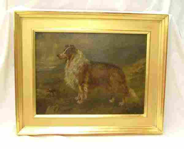 Signed T. Beaumont o/b of dog