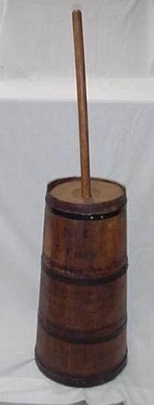 #1 5 gallon butter churn, Wapakoneta, O