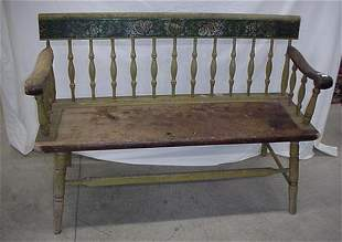 "47.5"" settle bench with original stenci"