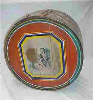 """Decorated 15"""" bride's box with lithogra"""