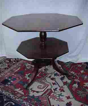 """34"""" mahogany occasional table with inla"""