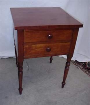 Cherry Sheraton 2 drawer nightstand, 28