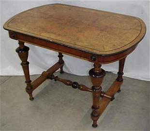 Victorian burl walnut parlor table with
