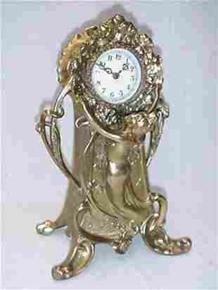 """12.5"""" spelter clock case with lady look"""