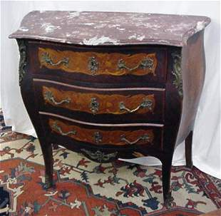 """36"""" marble top commode with bronze moun"""