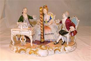 """15"""" porcelain figural grouping of lady"""
