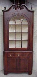 1138: Ca. 1830 cherry corner cupboard