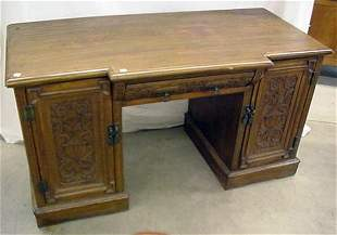"""Ornate 52"""" desk with 1 drawer and 2 doo"""